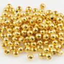 Beads, High quality metal alloy, Gold colour, Disc shape, Diameter 4mm, 9g, 80 Beads, (JSZ0003)